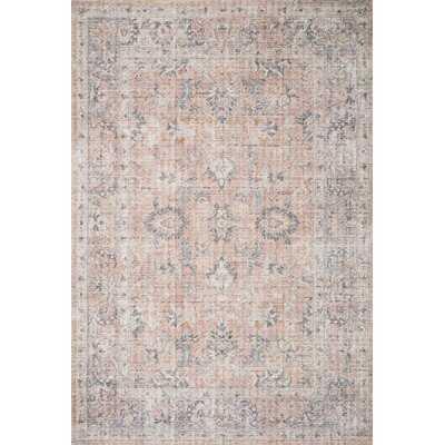 "Oriental Blush/Gray Area Rug,  Rectangle 7'6"" x 9'6"" - Wayfair"