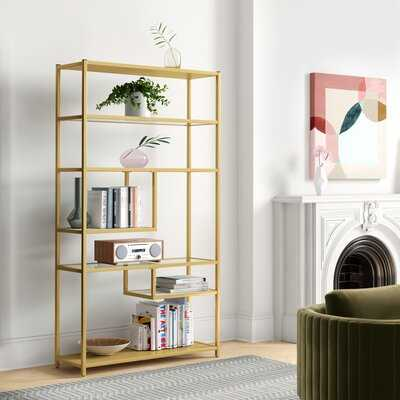 "Karly 72"" H x 40"" W Steel Geometric Bookcase - Wayfair"