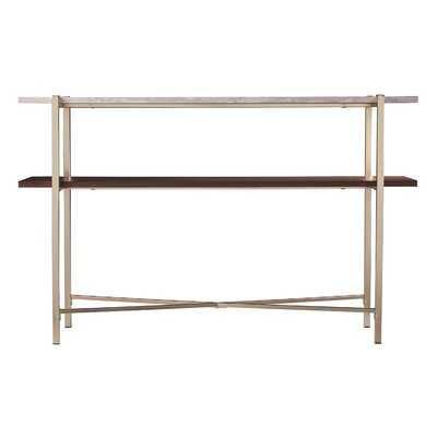 Ardmillan Faux Marble Console Table W/ Storage - Wayfair