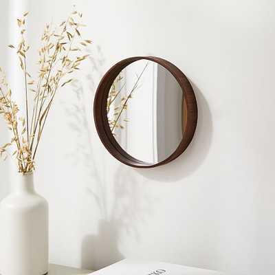 """Maren Wood Mirrors, Walnut, 10"""" - West Elm"""
