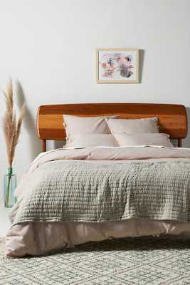 Amber Lewis for Anthropologie Woven Pfeiffer Bed Blanket By Amber Lewis for Anthropologie in Green Size KG TOP/BED - Anthropologie