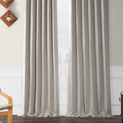 Clem Blackout Rod Pocket Single Curtain Panel - Birch Lane