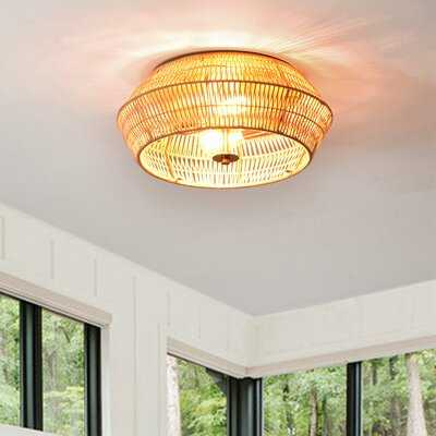 Robert 2 - Light 15.25'' Flush Mount - Wayfair