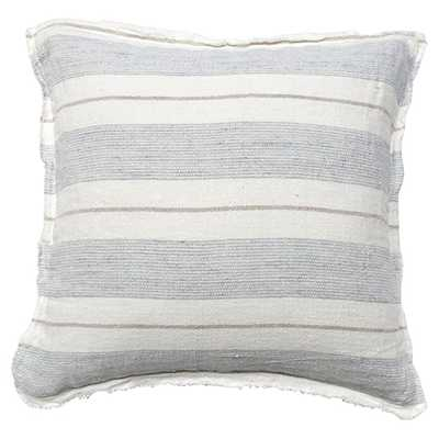 Pom Pom French Country Laguna Pillow - Natural Ocean - Kathy Kuo Home