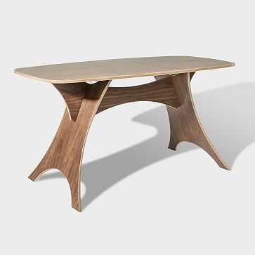 Simbly Desk + Kitchen Table, Walnut - West Elm