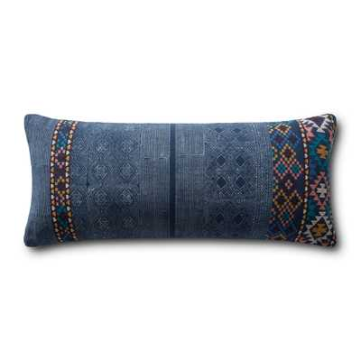 """PILLOWS P0969 NAVY / MULTI 13"""" x 35"""" Cover w/Poly - Loma Threads"""