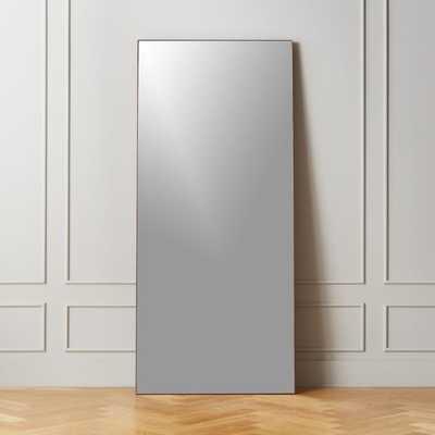 """Infinity Midtone Floor Mirror 32""""x76"""" - CB2"""