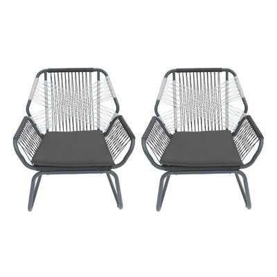 Gordonsville Patio Chair with Cushions (set of 2) - AllModern