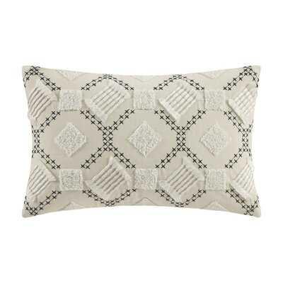 Ashburn Cotton Geometric Lumbar Pillow - Wayfair