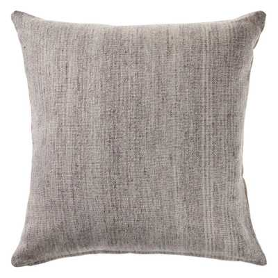 LR Home San Gray Modern Distressed Cozy Poly-fill 20 in. x 20 in. Decorative Throw Pillow - Home Depot