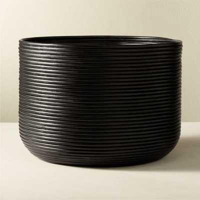 Basket Large Black Rattan Planter - CB2