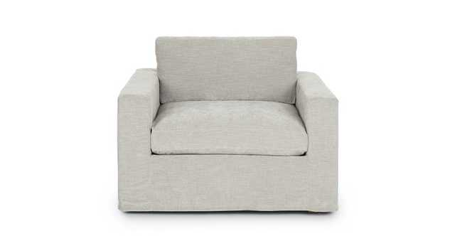 Alzey Whistle Gray Slipcover Lounge Chair - Article