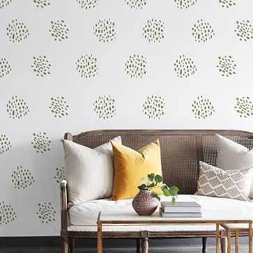 Dot Clusters Wall Decal, Gold Metallic (36 decals per pack) - West Elm