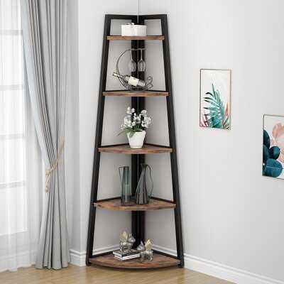 """Jannelly 70"""" H x 26"""" W Corner Bookcase - Wayfair"""