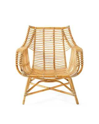 Venice Rattan Chair - Natural - Serena and Lily