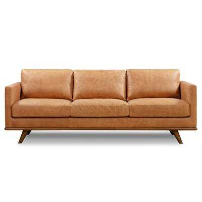 Lisson Genuine Leather 85'' Square Arms Sofa - Wayfair