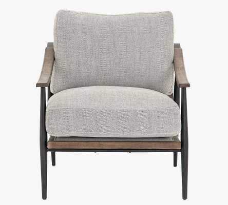 Lakeport Upholstered Armchair, Distressed Natural - Pottery Barn