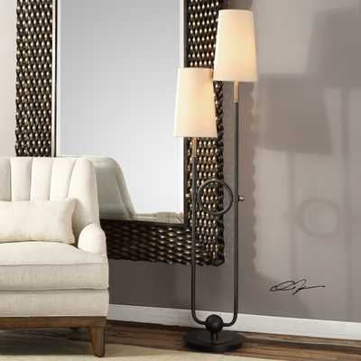 Riano 2 Arm / 2 Light Floor Lamp - Hudsonhill Foundry
