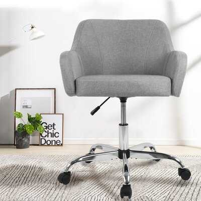 Home Office Chair Computer Task Chair Adjustable Desk Chair With Swivel Casters For Office Leisure Grey - Wayfair