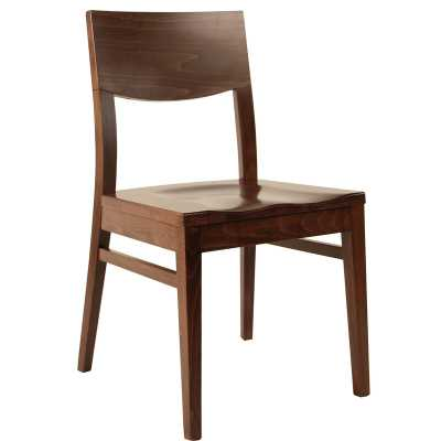 Solid Wood Dining Chair Color: Dark Walnut - Perigold