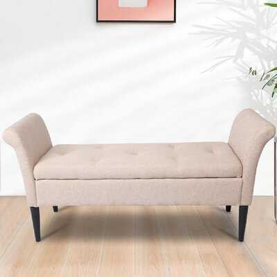 Ameeliah Upholstered Flip Top Storage Bench - Wayfair
