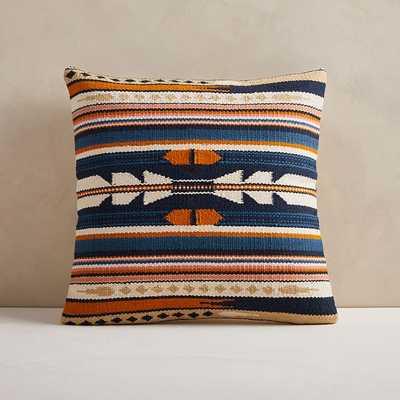 "Woven Baja Pillow Cover, 20""x20"", Midnight - West Elm"