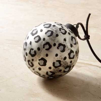 Snow Leopard Black and White Ornament - CB2