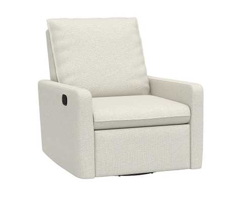 Paxton Swivel Glider & Recliner, Performance Boucle, Oatmeal - Pottery Barn Kids