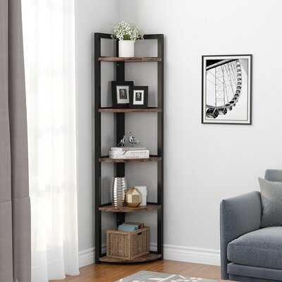 Adinda 5 Shelves Triangle Metal Corner Shelf - Wayfair