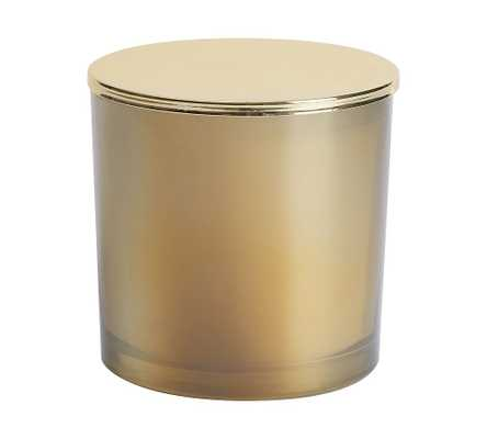 Champagne Cheer Scented Candle, Gold, Large with Lid, 24 oz. - Pottery Barn