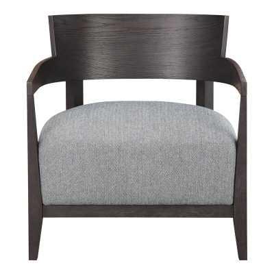 Volta Armchair Fabric: Gray, Leg Color: Gray - Perigold
