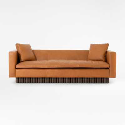 """Topher 85"""" Leather Sofa - Crate and Barrel"""