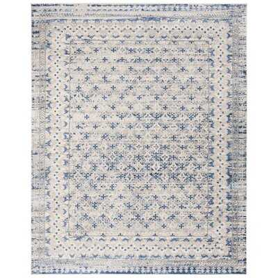 Lamartine Oriental Light Gray/Blue Area Rug - Wayfair