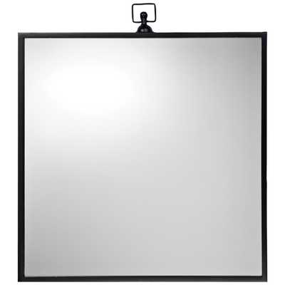 "Jamie Young Vince Black 23 1/2"" x 26 1/2"" Metal Wall Mirror - Style # 77E67 - Lamps Plus"