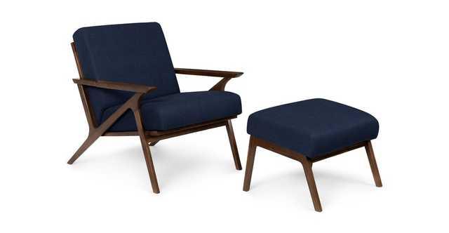 Otio Oceano Blue Walnut Lounge Set - Article