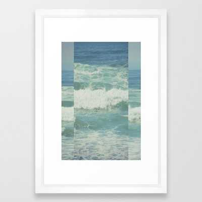 Ocean Framed Art Print by Hannah Kemp - Vector White - SMALL-15x21 - Society6