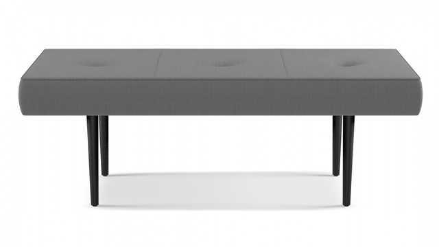Mid-Century Bench | Grey Linen - The Inside