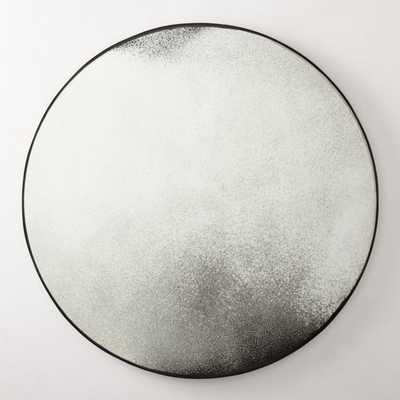 """Clooney Antiqued Round Mirror 36"""" - CB2"""