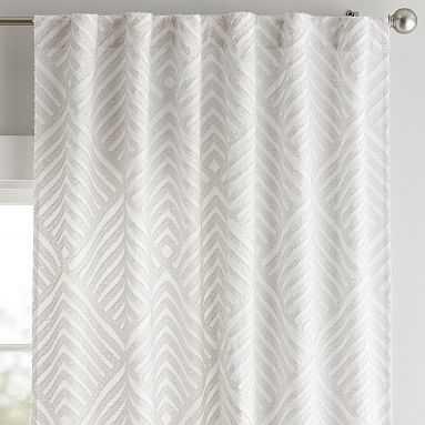 "Alexis Curtain Panel, 84"", Light Gray - Pottery Barn Teen"
