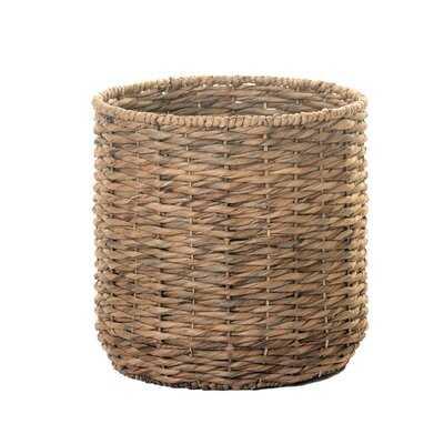Twist Weave Water Hyacinth Wicker Basket - Wayfair