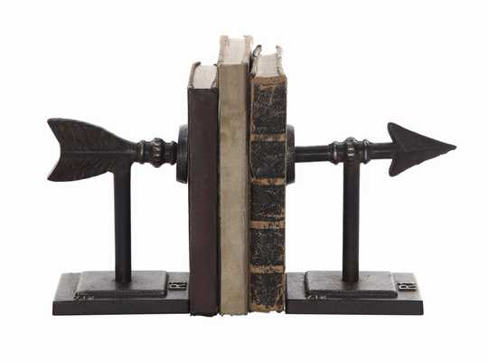 Bronze Arrow Shaped Cast Iron Bookends (Set of 2 Pieces) - Nomad Home