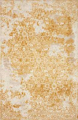 "LINDSAY LIS-01 Gold / Antique White 7'-9"" x 9'-9"" - Magnolia Home by Joana Gaines Crafted by Loloi Rugs"