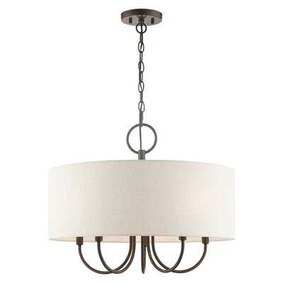 5 - Light Shaded Drum Chandelier - Wayfair