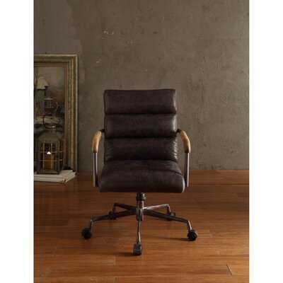 Markenfield Pneumatic Lift Genuine Leather Executive Chair - Wayfair