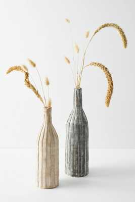 Ribbed Clay Vases, Set of 2 - Anthropologie