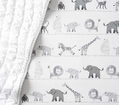 Organic Lawson Fitted Crib Sheet, Multi - Pottery Barn Kids