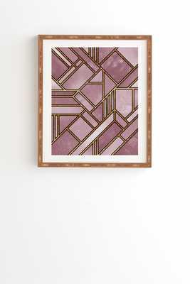 "Geo Gold 1 by Elisabeth Fredriksson - Framed Wall Art Bamboo 11"" x 13"" - Wander Print Co."