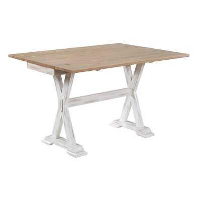Edenboro Foldover Leaf Console Table - Wayfair