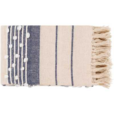 Artistic Weavers Liandri Blue Throw Blanket, Navy/White/Cream - Home Depot