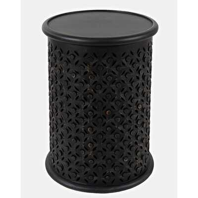 Darrah Solid Wood Tray Top Drum End Table - Wayfair